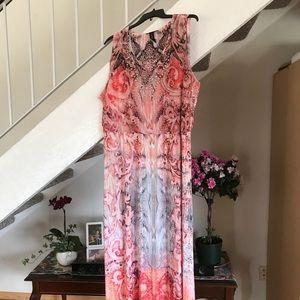 NWOT. Maxi dress with embellishment